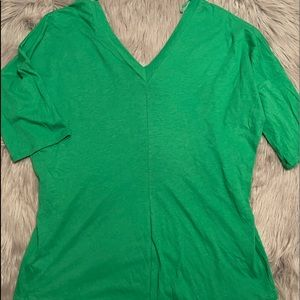 Express Double V neck top large NWT